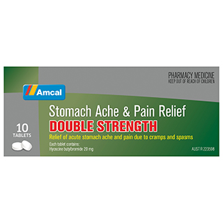 Image for Amcal Stomach & Pain Double - 10 Tablets from Amcal