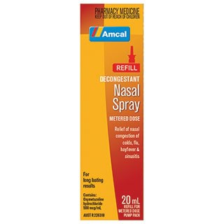 Image for Amcal Decongestant Nasal Refill - 20ml from Amcal