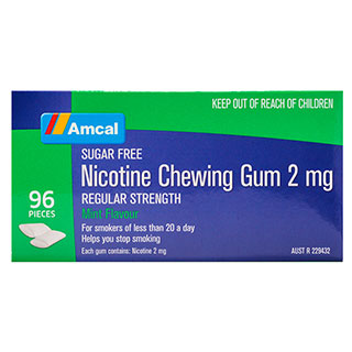 Image for Amcal Nicotine Chewing Gum Mint 2mg - 96 Pack from Amcal