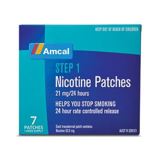Image for Amcal Nicotine Patches 21mg - 7 Patches from Amcal