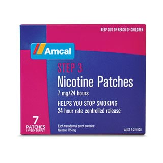 Image for Amcal Nicotine Patches 7mg - 7 Patches from Amcal
