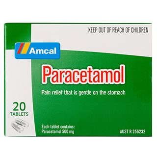 Image for Amcal Paracetamol - 20 Tablets from Amcal