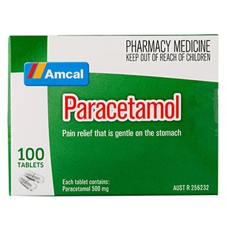 Image for Amcal Paracetamol - 100 Tablets from Amcal