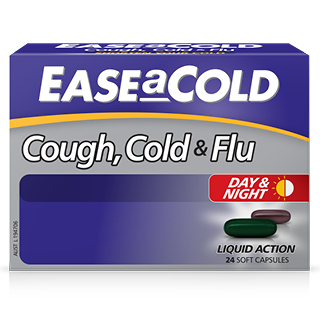 Image for EASEaCOLD Cough Day & Night - 24 Capsules from Amcal