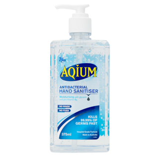 Image for Aqium Hand Sanitiser - 375mL from Amcal