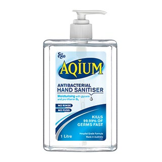 Image for Aqium Antibacterial Hand Sanitiser Gel - 1L from Amcal