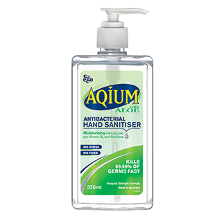 Image for Aqium Hand Sanitiser Aloe - 375mL from Amcal