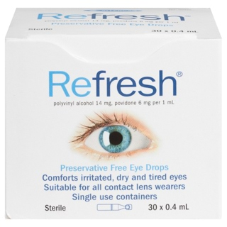 Image for Refresh Preservative Free Eye Drops 0. 4mL - 30 Vials from Amcal