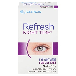 Image for Refresh Night Time Eye Ointment For Dry Eyes - 3.5g from Amcal