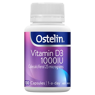 Image for Ostelin Vitamin D3 1000IU - 130 Capsules from Amcal