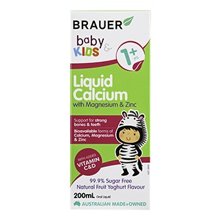 Image for Brauer Baby & Kids Liquid Calcium with Magnesium & Zinc Fruit Yoghurt from Amcal