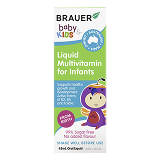 Image for Brauer Baby & Kids Liquid Multivitamin for Infants - 45mL from Amcal