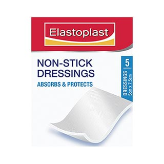 Image for Elastoplast Non-Stick Wound Dressings -7. 5x5cm - 5 Pack from Amcal