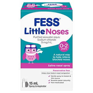 Image for Fess Little Noses Saline Spray and Aspirator - 15mL from Amcal