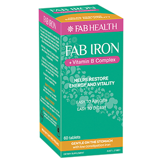 Image for Fab Iron + B Complex - 60 Tablets from Amcal