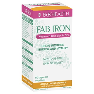 Image for Fab Iron + B Complex + Zinc - 60 Capsules from Amcal