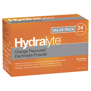 Image for Hydralyte Orange Value Pack 4.9G - 24 Sachets from Amcal