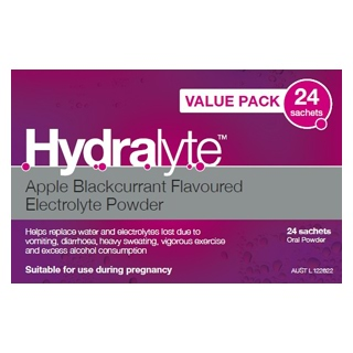 Image for Hydralyte Apple Blackcurrant 4.9G - 24 Sachets from Amcal
