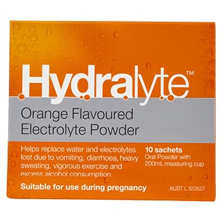 Image for Hydralyte Orange Flavour Electrolyte Powder - 10 Sachets from Amcal