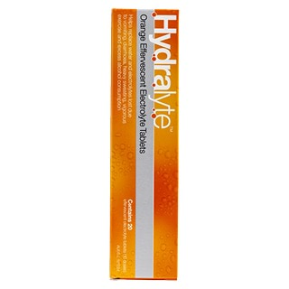 Image for Hydralyte Orange Effervescent Electrolyte Tablets - 20 Tablets from Amcal