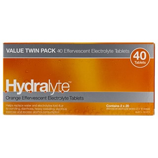 Image for Hydralyte Orange Flavoured Effervescent Electrolyte - 40 Tablets from Amcal