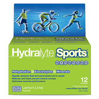Image for Hydralyte Sports Lemon/Lime Sachets - 12 Pack from Amcal