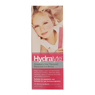 Image for Hydralyte Ice Block Strawberry Kiwi - 62.5mL x 16 from Amcal
