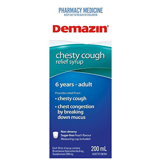 Image for Demazin Chesty Cough Syrup - 200ml from Amcal
