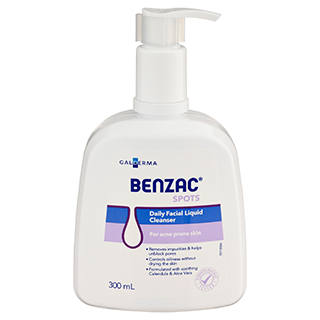 Image for Benzac Daily Facial Liquid Cleanser - 300 mL from Amcal