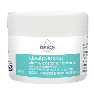 Image for Kenkay Dual Purpose Zinc & Castor oil Cream 100g Tub from Amcal