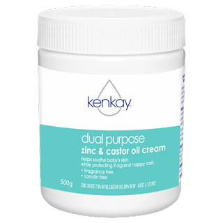 Image for Kenkay Dual Purpose Zinc & Castor oil Cream 500g Tub from Amcal