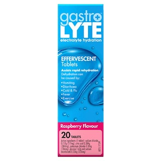 Image for Gastrolyte Effervescent Raspberry - 20 Tablets from Amcal