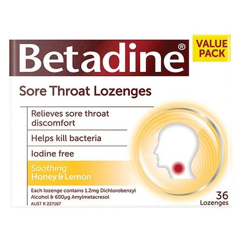 Betadine Honey & Lemon - 36 Lozenges