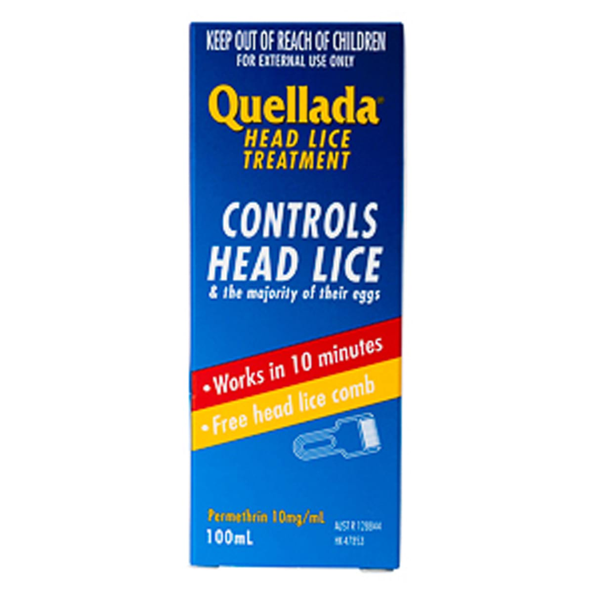 Image for Quellada Head Lice Treatment - 100mL from Amcal