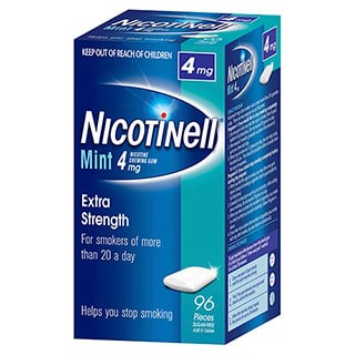 Image for Nicotinell Gum Mint 4mg - 96 Pack from Amcal