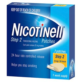 Image for Nicotinell Patches 14mg Step 2 - 7 Pack from Amcal