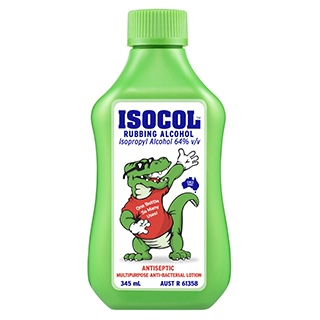 Image for Isocol Rubbing Alcohol Antiseptic - 345mL from Amcal