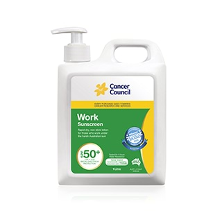 Image for Cancer Council Work SPF50+ Pump - 1L from Amcal