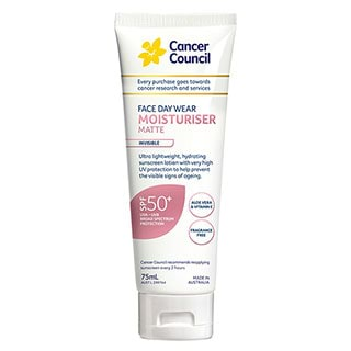 Image for Cancer Council Face Day Wear Moisturiser Matte SPF50 Invisible - 75mL from Amcal