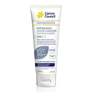 Image for Cancer Council Invisible Face & Body Moisturiser 4 Hour Water Resistan from Amcal