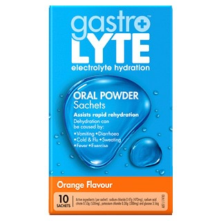 Image for Gastrolyte Orange Flavour - 10 Sachets from Amcal