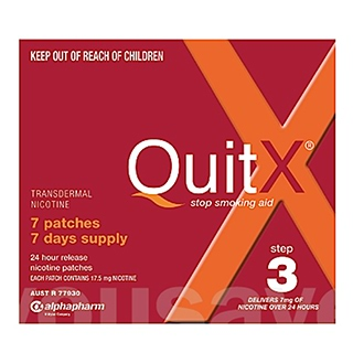 Image for QuitX Patches Step 3 7mg - 7 Pack from Amcal