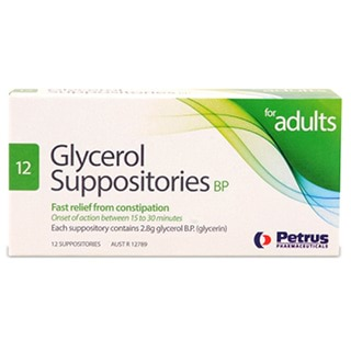 Image for Glycerol Suppositories Adult - 12 Pack from Amcal