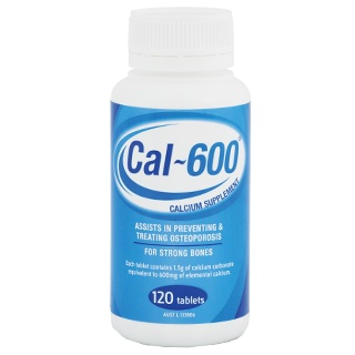 Image for Cal-600 Calcium Suppliment - 120 Tablets from Amcal