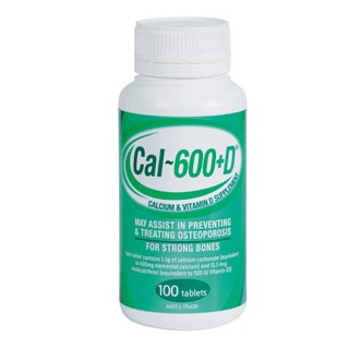 Image for Cal 600 + D - 100 Tablets from Amcal