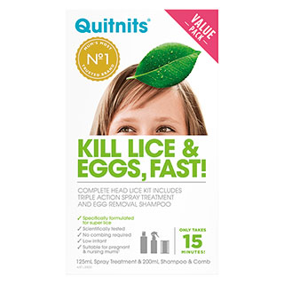Image for Quit Nits Complete Lice Kit - 200mL from Amcal