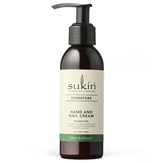 Image for Sukin Hand & Nail Cream Pump - 125mL from Amcal