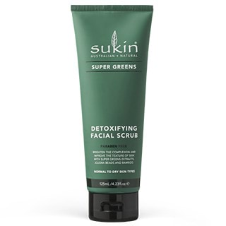 Image for Sukin Super Greens Detoxifying Facial Scrub- 125mL from Amcal