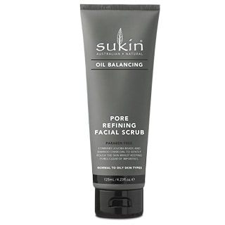 Image for Sukin Oil Balancing Plus Charcoal Pore Refining Facial Scrub - 125mL from Amcal