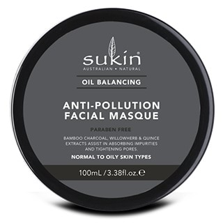 Image for Sukin Oil Balancing Plus Charcoal Anti-Pollution Facial Masque - 100mL from Amcal